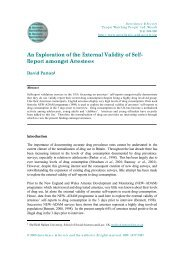 An Exploration of the External Validity of Self- Report amongst ...