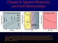 Igneous Structures and Field Relationships - Faculty web pages