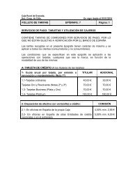 Tarjetas y utilización de cajeros - Caja Rural de Granada