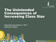 The Unintended Consequences of Increasing Class Size - AAMC