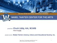 2009 local history and historic preservation conference - Wisconsin ...