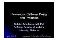 W20b Twardowski 3 Intravenous catheter design and problems - SFAV