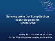 Schwerpunkte der Europäischen Technologiepolitik - CATT