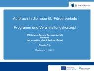 Aufbruch in die neue EU-Förderperiode Programm und ...