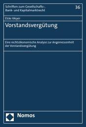 Vorstandsvergütung - Nomos Verlagsgesellschaft