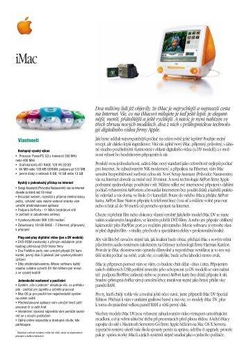 iMac Data Sheet - Quentin