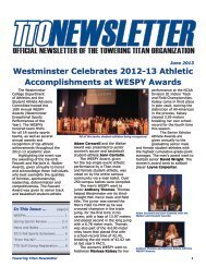 Towering Titan Newsletter - Westminster College