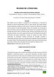 Sistemas agroflorestais em áreas urbanas - Revista da Sociedade ...
