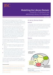 Modelling the Library Domain - Jisc