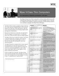 Wyse V-Class Thin Client Family - Wyse - Wyse Technology