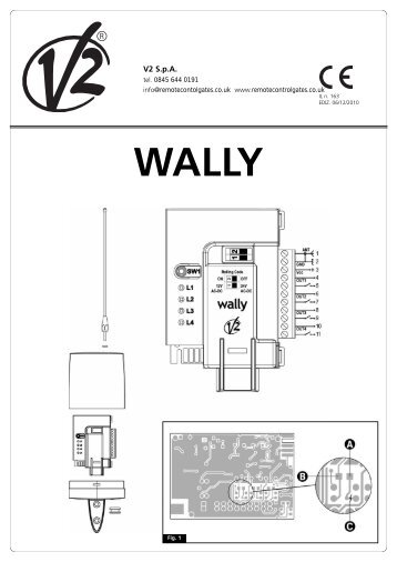 download V2 Wally instructions - The Remote Control Gate Co