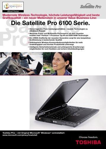 Die Satellite Pro 6100 Serie. - Toshiba