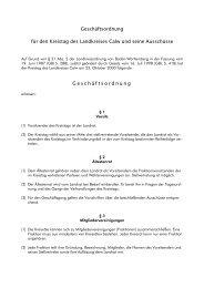 Geschäftsordnung für den Kreistag des ... - Landkreis Calw