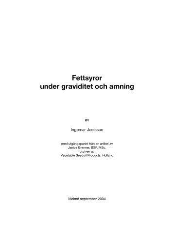 Fettsyror under graviditet och amning - Scientific Communication AB
