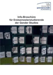 Infobroschüre - Fachschaft Gender Studies - Universität Oldenburg