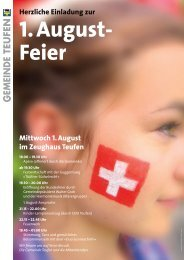 Mittwoch 1. August im Zeughaus Teufen Herzliche ... - Tüüfner Poscht