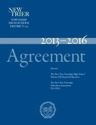 New Trier Education Association Agreement 2011-2013