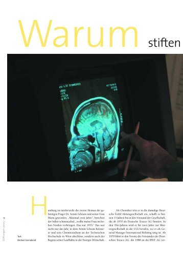 Interview mit Dr. Armin Schram aus dem Jahresbericht des ...