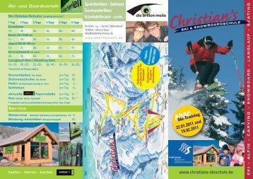 Sportbrillen - Skischule Bolsterlang Snowboarschule vom Christian