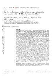 arXiv:astro-ph/0501379 v1 18 Jan 2005