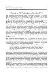 Filmanalyse: Pulp Fiction - Fachbereich Philosophie und ...