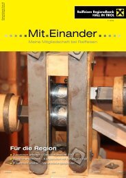 Mit.Einander RB Hall, Ausgabe 01/2013 - Tirol