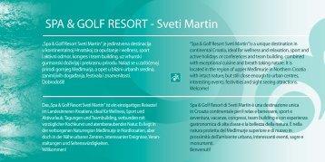 SPA & GOLF RESORT - Sveti Martin - Spa & Sport Resort Sveti Martin