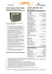 Mains requirements and output specifications - Schulz Electronic ...