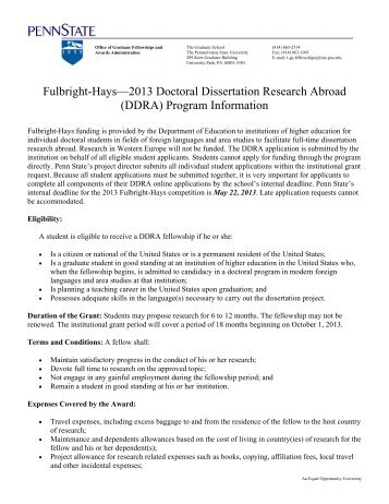 international dissertation research fellowship idrf program