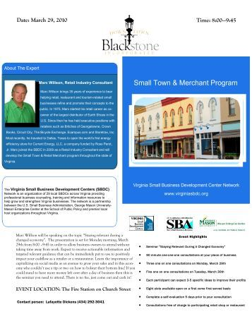 Date - Downtown Blackstone Inc.