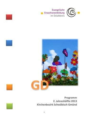 Programm im Dekanat Schwäbisch Gmünd, 2. Halbjahr 2013