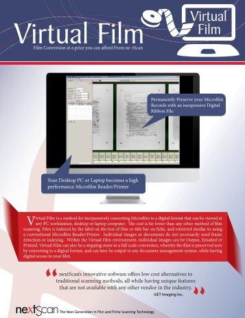 Virtual Film Data Sheet - nextScan