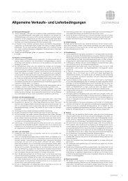Allgemeine Verkaufs- und Lieferbedingungen