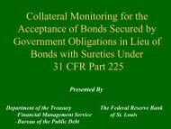 Collateral Monitoring for the Acceptance of Bonds Secured by ...
