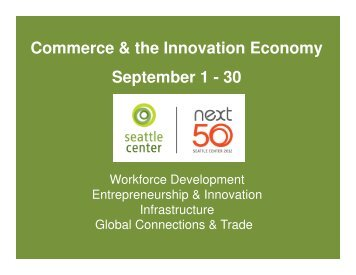 Next 50 Commerce & Innovation Economy Month Summary