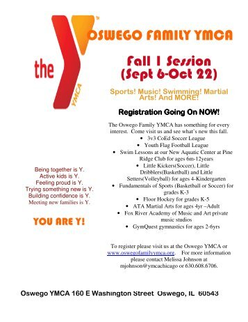 Fall Program Registration and Youth Soccer and Football Leagues