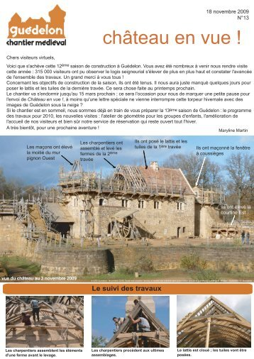"""Château en vue !"" N°13 (PDF - 458 Ko) - Guédelon"