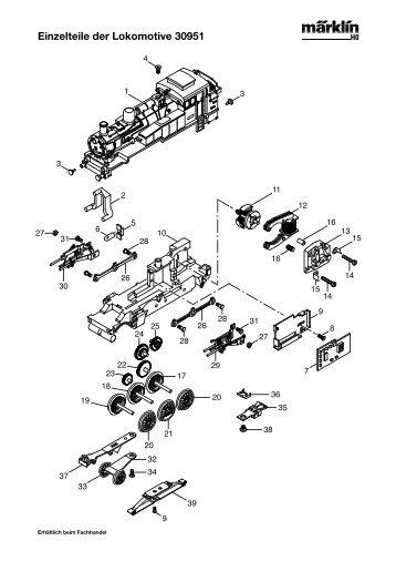 Einzelteile der Lokomotive 30951 - NSE Software
