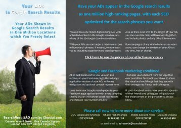 Have your ADs appear in the Google search results ... - Google Drive