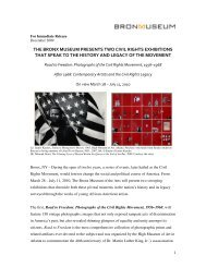 the bronx museum presents two civil rights exhibitions that speak to ...