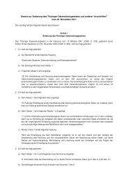 Gesetz zur Änderung des Thüringer Datenschutzgesetzes und ...