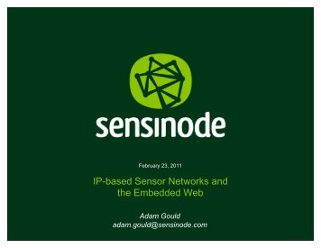 Please Click Here to View Sensinode Presentation