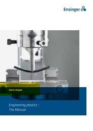 Engineering plastics – The Manual - F.wood-supply.dk