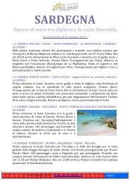 SARDEGNA Sapore di mare tra Alghero e la costa ... - I tuoi viaggi