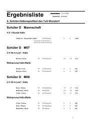 Schüler-Hallensportfest in Wunstorf