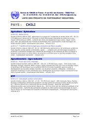 béton, tanneries, industries agrochimiques et métal - Unido