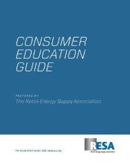Consumer Education Guide - RESA - Retail Energy Supply ...