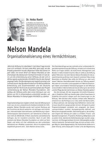 Nelson Mandela - Prof. Dr. Heiko Roehl