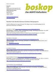 Newsletter # 1013   Okt 2013   Bochumer ... - AKAFÖ Bochum