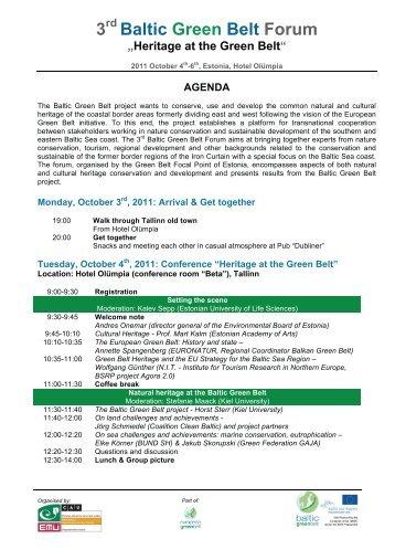 3 Baltic Green Belt Forum